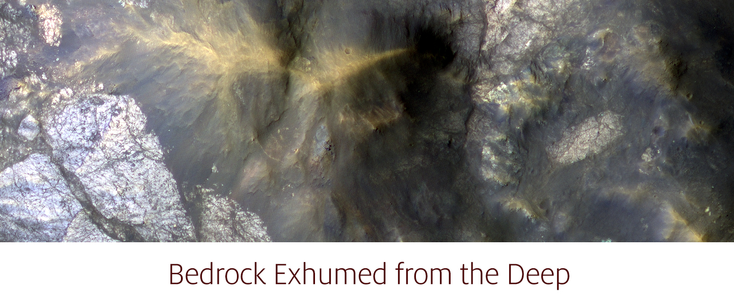 Bedrock Exhumed from the Deep