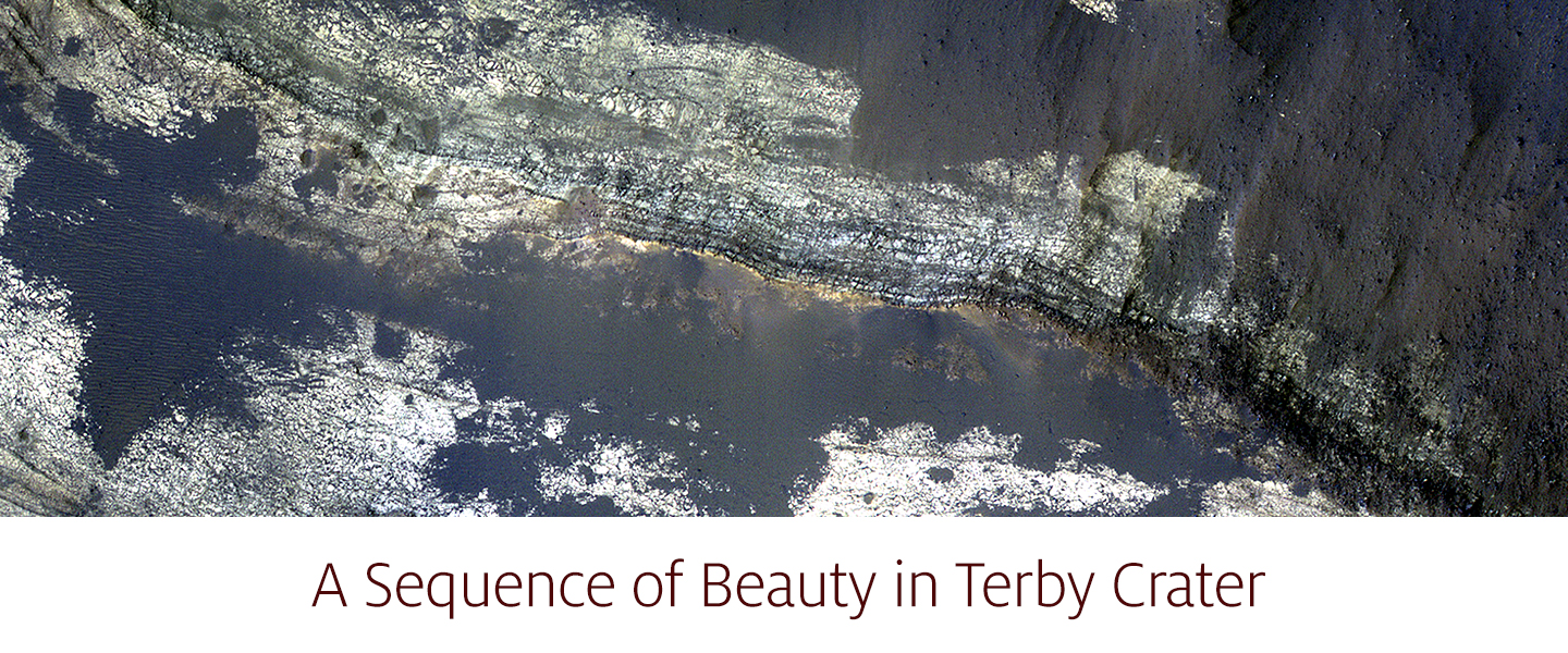 A Sequence of Beauty in Terby Crater