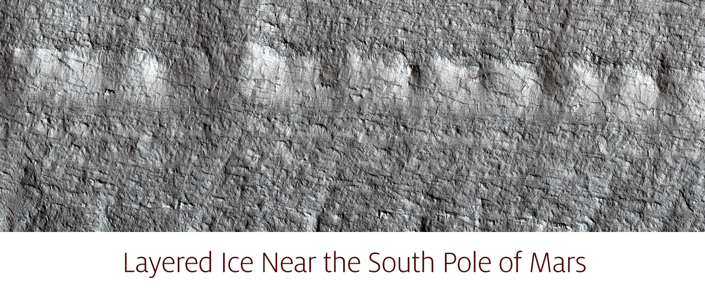 Layered Ice Near the South Pole of Mars