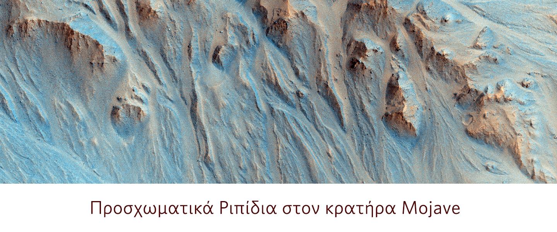 Προσχωματικά Ριπίδια στον κρατήρα Mojave