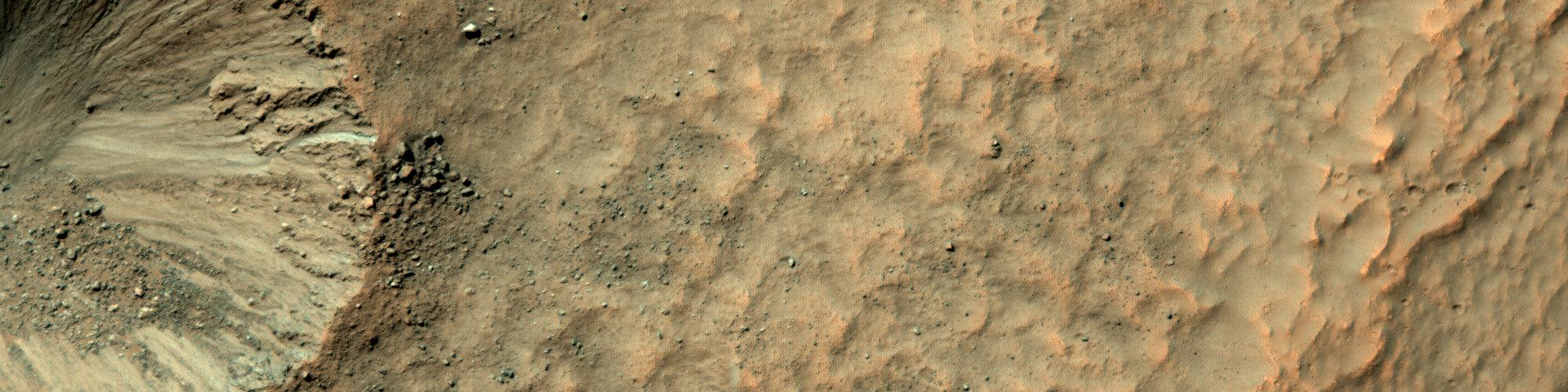 Ένας Κρατήρας στο Τοίχωμα ενός Κρατήρα