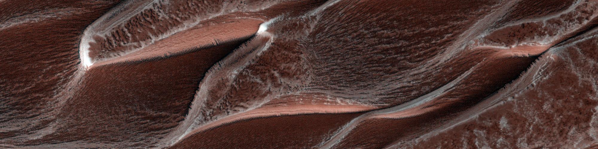 Ett vackert hav med sanddyner vid nordpolen