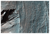 Crater Rim Layers, Rubble, and Gullies