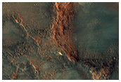 Ridges South of Meroe Patera