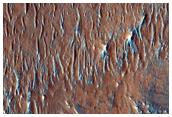 Erosional Landforms in Eos Chasma
