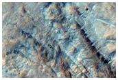 Landslide in Hesperia Planum