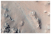 Slope Monitoring in Hale Crater Central Peaks