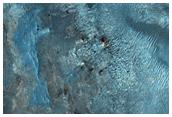 La colorida eyecta de impacto del Cráter Hargraves