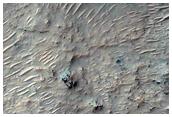 Slopes in Niesten Crater
