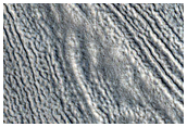 Flow Features in Erebus Montes