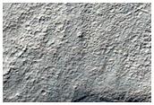 Crater Walls in Northwest Noachis Terra