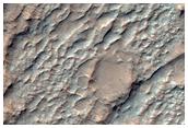 Chlorures potentielles dans les plaines entre les cratères