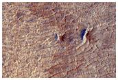 Terrain intéressant sur l'Auréole d'Olympus Mons