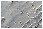 Cônes dans un cratère à l'ouest de Maadim Vallis