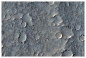 Contact dans l'Isidis Planitia méridionale