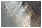 Canal a l'est d'Olympus Mons