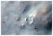 Oberflächenformen im Süden von Sirenum Fossae