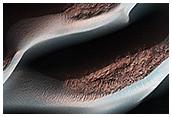 Breytingar á sandöldum í Hellas Planitia