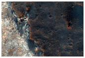 Mögulegur lendingarstaður ExoMars í Mawrth Vallis