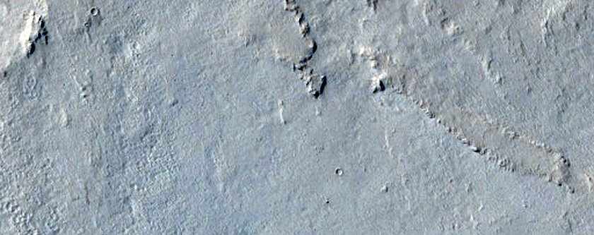 Southern Continuous Ejecta Boundary of Zunil Crater