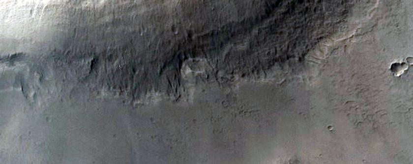 Small Lobe on Crater Floor in North Arabia Terra