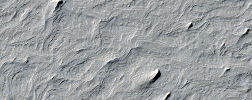 تضاريس متموجة ضمن ميدوساى فوساى (Medusae Fossa)