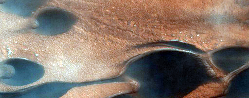 Track Dune-Alcove Changes within Chasma Boreale Dunes