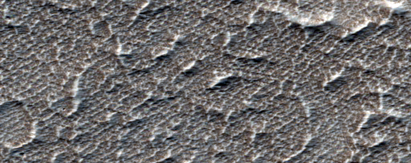 Flow Field West of Arsia Mons