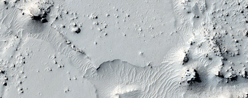Athabasca Valles Lava Contact Relation