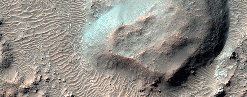Floor of Crater in Tyrrhena Terra