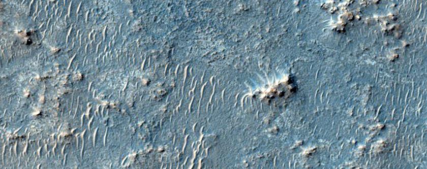 Deposits West of Miyamoto Crater