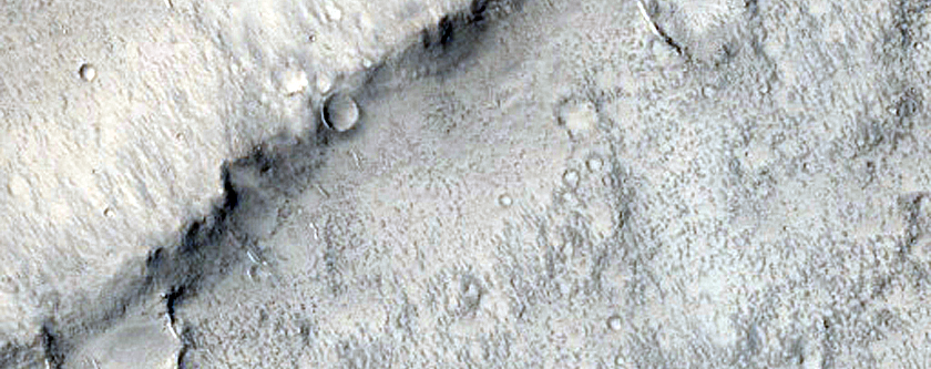 Lobate Structure in Isidis Planitia