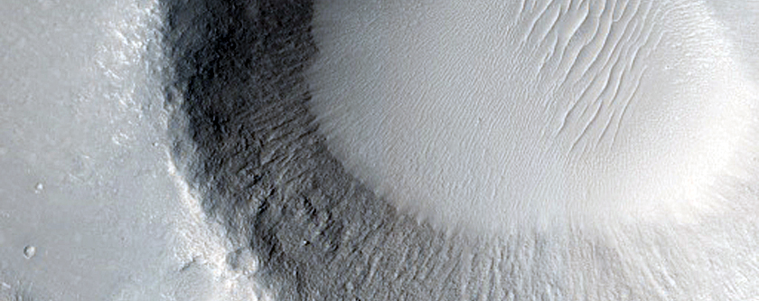 Small Crater in Utopia Planitia