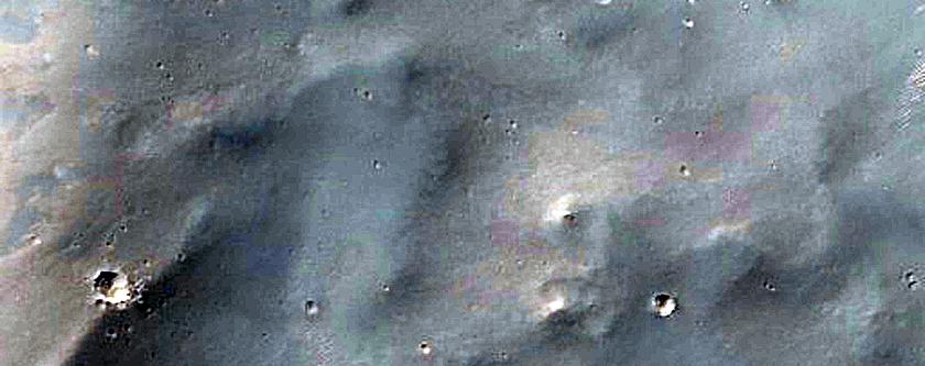 Crater Near Center of Sinai Planum