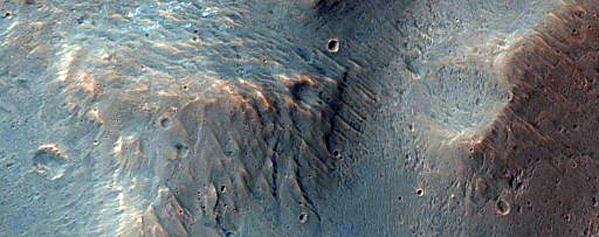 Chaotic Terrain in Orson Welles Crater