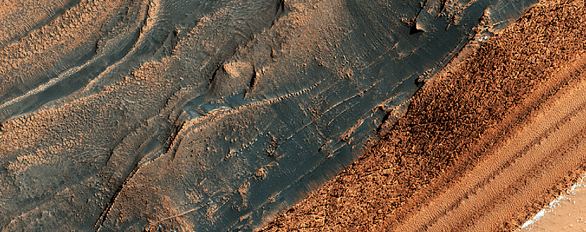 Steep Scarp in North Polar Layered Deposits