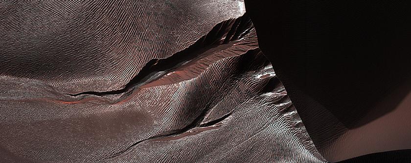 Gullies of Matara Crater