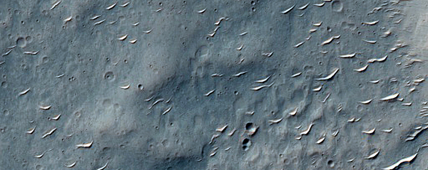 Southern Continuous Ejecta of Boundary of Bam Crater in Hesperia Planum