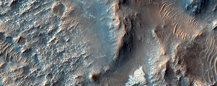 Candidate Landing Site for 2020 Mission West of Jezero Crater