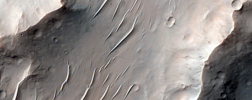 Pitted Material in 53-Kilometer Diameter Crater in Noachis Terra