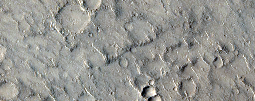 Ridges in Isidis Planitia