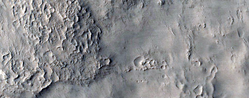 Layers on Rim of Crater North of Antoniadi Crater