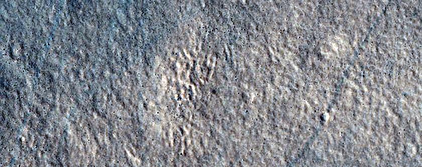 Ridges in Diacria Region