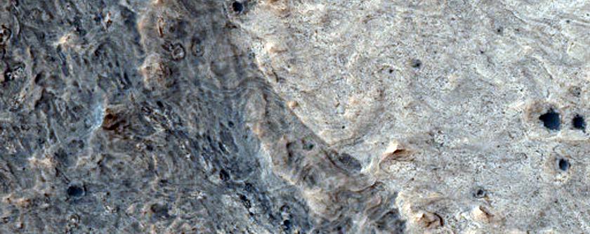Layered Sedimentary Rocks in Meridiani Planum