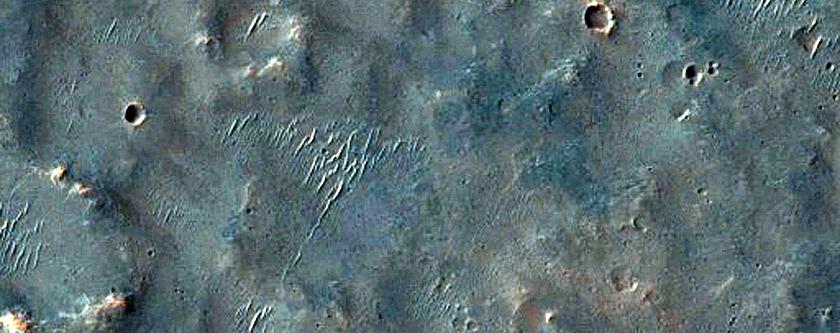 Elongated Pit in Margaritifer Terra