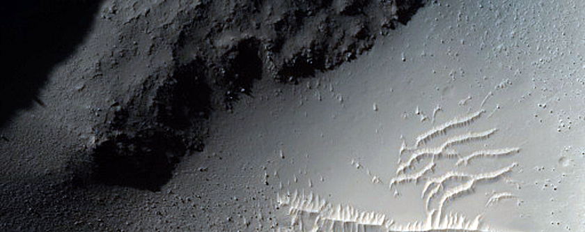 Crater on Lava Flows