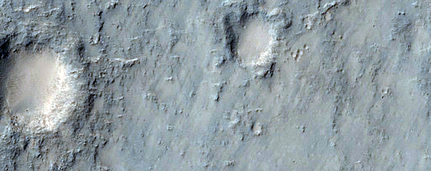 Intra-Crater Landslides Southeast of Isidis Planitia