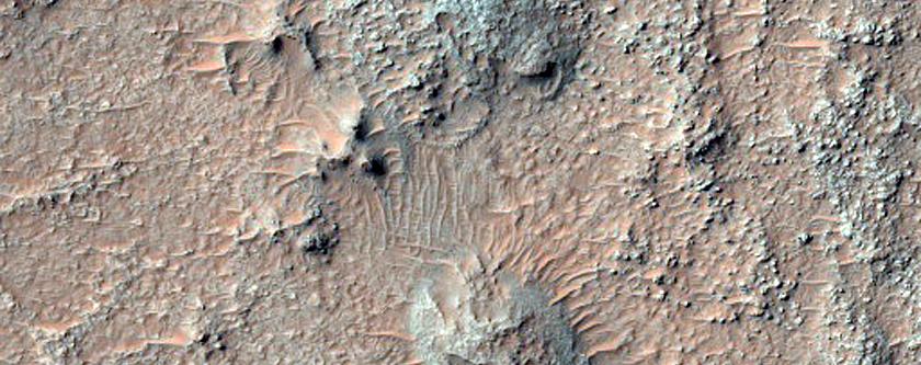 Fractured Bedrock on Crater Floor