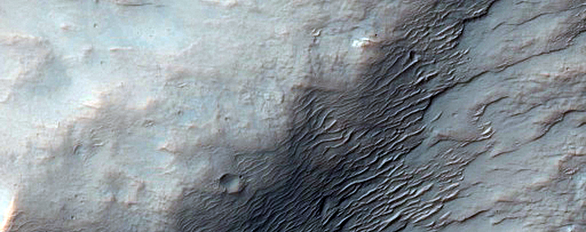 Central Region of Impact Crater
