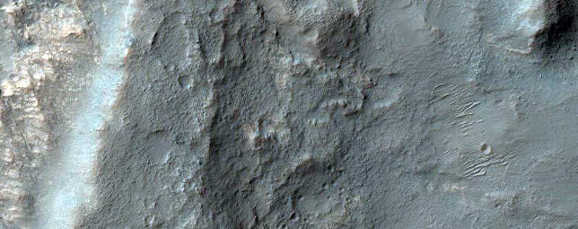 Layered Bedrock Northwest of Hellas Planitia